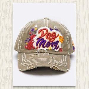 LAST Dog Mom Hat Baseball Cap Pup Mother NWT NEW
